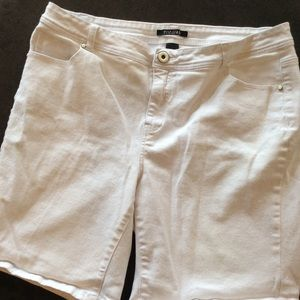 💜 3 for $10. White jean shorts